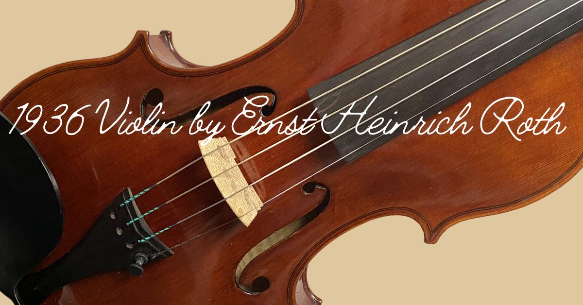 Violin by Ernst Heinrich Roth
